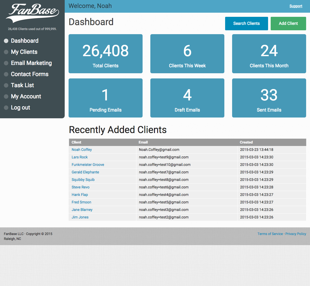 FanBase Dashboard